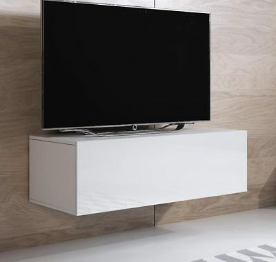 Mueble TV modelo Luke H1 (100x30cm) color blanco