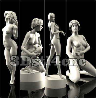 4 3D STL Models Nude Womans for CNC Router Carving Machine Artcam aspire