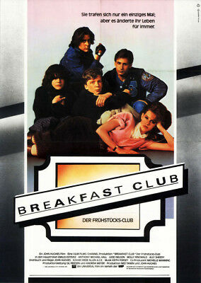 Breakfast Club ORIGINAL A1 Kinoplakat Ally Sheedy / Emilio Estevez / Judd Nelson