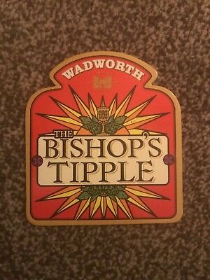 Wadworth The Bishop's Tipple Beer Pump Clip Breweriana Brand New Free Fast P+P