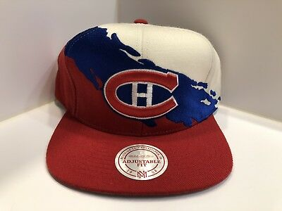 reputable site 34d37 27831 Montreal Canadiens PAINTBRUSH SNAPBACK White-Red Hats Mitchell   Ness  VINTAGE