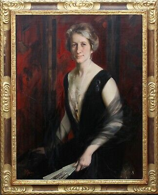 JAMES PETER QUINN  AUSTRALIAN PORTRAIT OIL PAINTING  exh. PARIS  1869-1951