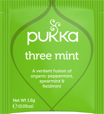 Pukka Herbal Organic Teas Tea Sachets - Three Mint (20 Sachets)