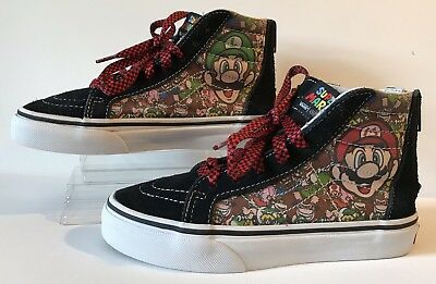 9f9db33664 VANS Nintendo Super Mario Game Over Zip Up High Top YOUTH KIDS SZ 1. RARE