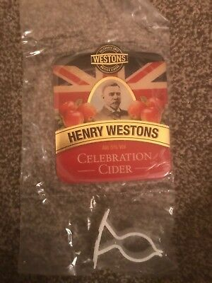 Westons Henry Westons Beer Pump Clip Breweriana Brand New Free Fast P+P