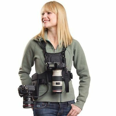 Carrier Multi Dual 2 Camera Carrying Chest Harness Vest Quick Strap System Ii