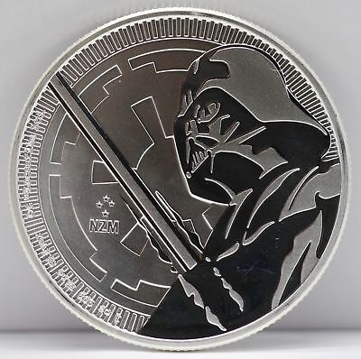 2018 Niue Darth Vader Star Wars 1 Oz 999 Silver $2 Coin JB560
