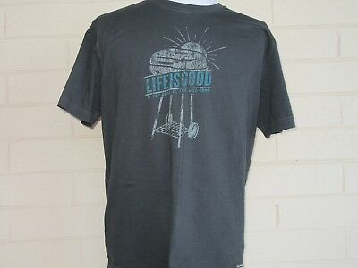 a1efd31ee0 Life is Good Men's Gray T-Shirt Size Large BBQ If You Grill It They