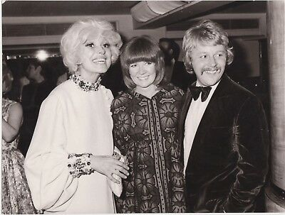Vintage David Magnus Original Photograph Cilla Black Carol Channing Bobby Willis