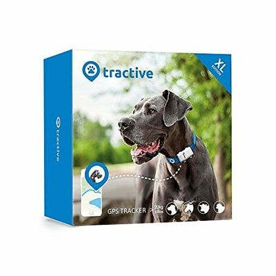 Tractive GPS XL Tracker for Dogs - waterproof pet finder collar attachment - XL