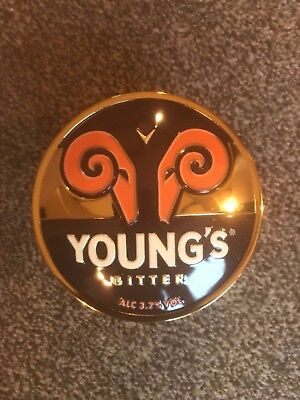 Young's Bitter Metal Beer Pump Clip Breweriana Brand New Free Fast P+P