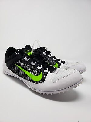 factory authentic 91217 3f67f Nike Rival MD 616312-103 Mens Size 14 Running Spikes White Black electric  Green