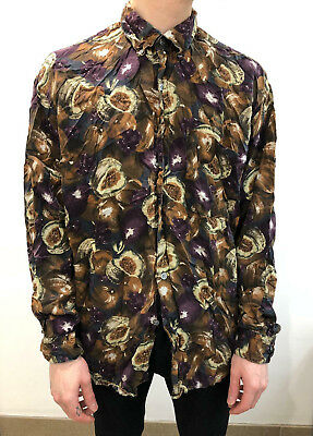 Vintage Men's Pattern Shirt - Small/Medium