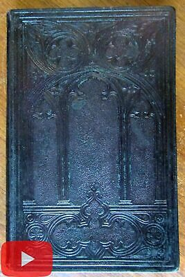 Cathedral leather book binding 1857 decorative architectural design lovely