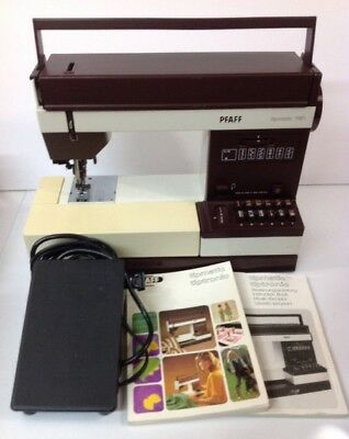 Vintage PFAFF TIPMATIC 1151 Sewing Machine w/Case & Foot Pedal