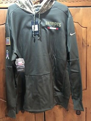 new concept 1d5e1 d20c5 NEW ENGLAND PATRIOTS Salute To Service Nike Men Therma Hoodie 2XL💯Authentic