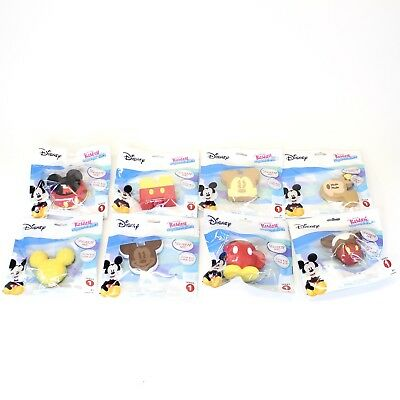 Lot of 9 Disney Kawaii Squeezies Mickey Mouse COMPLETE SET ALL DIFFERENT