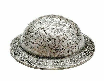 1918-2018 LEST WE FORGET $25 1.5OZ Silver Helmet Coin Canada 100th Armistice WW1