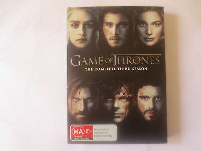 Game of The Thrones The Complete Third Season 3 DVD 5-Disc Set R4 #6268