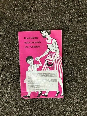 Vintage Road Safety Rules to Teach Your Children 1960's?