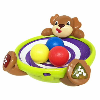 Bright Starts Spin/Giggle Puppy Animal Toy Game Baby/Infant/Toddler w/ Music 6m+