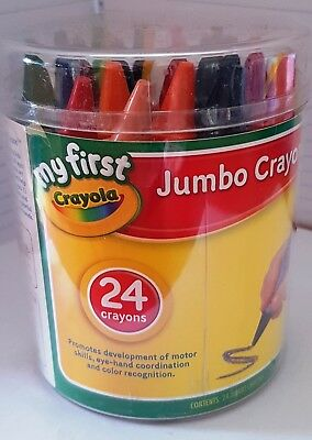 Crayola My First Jumbo Crayons - 24 Jumbo Crayons - Brand New - Damaged Stock