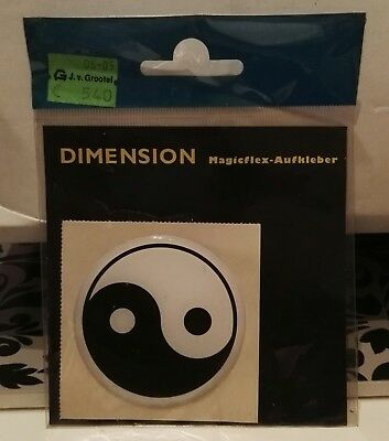 Car Dimention Sticker YING YANG smal