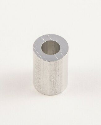 "New Aluminum Spacer bushing bung 1/2"" OD x 1/4"" ID x 3/4"" Long M6 Bore (6mm)"