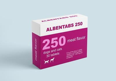 Albentabs 250 Deworming of dogs and cats Albendazole 250mg 30tablets meat flavor