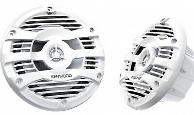 "Kenwood KFC-1653MRW 300 Watt 6.5"" 2-Way Marine Boat Stereo Speakers White Pair"