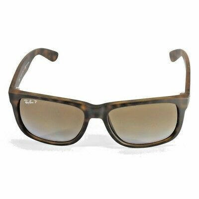 cc93d985e5d9a Ray Ban Justin Matte Brown Tortoise Polarized Sunglasses RB4165 865 T5 54mm