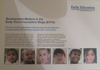 EYFS Development Matters - Early Years Foundation Stage Statutory Framework