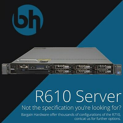 Dell R610 Configurable, 2x Six Core 96GB RAM 3.6TB SAS, PowerEdge 1U Server
