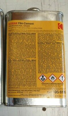 Kodak Film Cement for Splicing Joining Acetate celluloid film, IN DATE  473ml