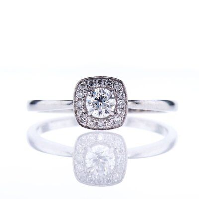 1.20 Ct Round Cut Diamond 14k Real White Gold Womens Engagement Wedding Ring 7 8
