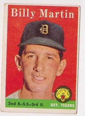 1958 Topps #271 Billy Martin - Detroit Tigers, Very Good - Excellent Condition
