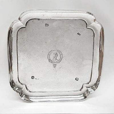 Antique George II Silver Salver Made by JOSEPH CLARE London 1723. Stock ID 9329