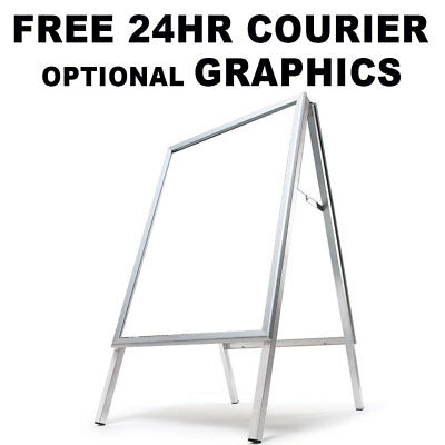 A1 A Board Pavement Sign Poster Snap Frame Stand Outdoor Display 24hr courier
