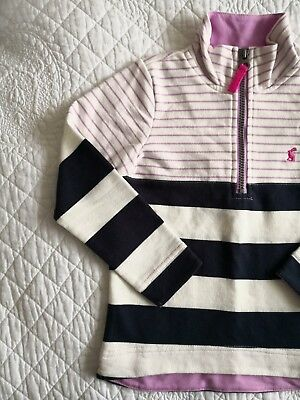 JOULES ~ Brand New with Tags ~ Sweatshirt Jumper Navy white & Lilac.❤️ 5 years