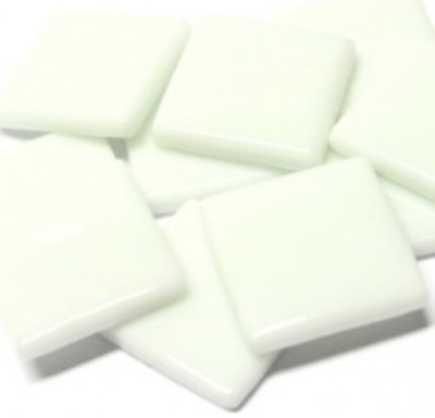 White Opal Gloss Glass Mosaic Tiles 2.5cm - Art Craft Supplies