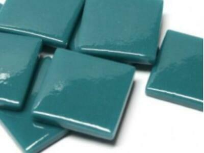 Dark Teal Gloss Glass Mosaic Tiles 2.5cm - Art Craft Supplies
