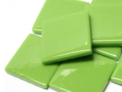 Green Gloss Glass Mosaic Tiles 2.5cm - Art Craft Supplies