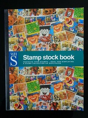 Wh Smith A4 Stamp Stock Book / Album 8 Pages / 16 Sides Interleaved Vgc