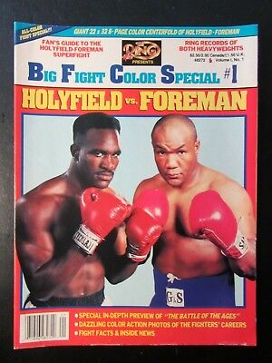 BIG FIGHT COLOUR SPECIAL Poster Edition #1 HOLYFIELD v FOREMAN