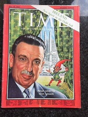 Time Magazine -  Sean Lemass  1963