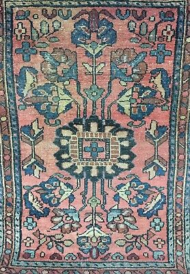 "Antique Muted Color Persian Oriental Area Rug 23""X32"""