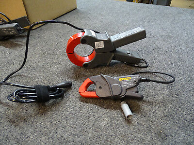 Lot of 2 Fluke AC Clamp-on Current Transformer 3005-PR & 80i-1000s