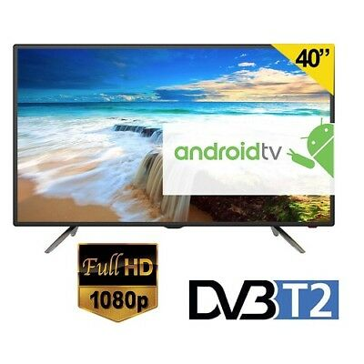 "Fuego Smart Tv Android 4.4 + Play Store Led 40"" Pollici Full Hd Wifi Dvb-T2 Iptv"