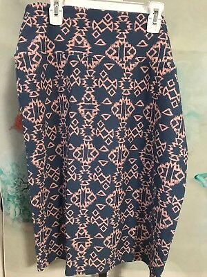 33900bb5c LULAROE CASSIE SKIRT Extra Large Blue Pink XL NWT - $15.00 | PicClick