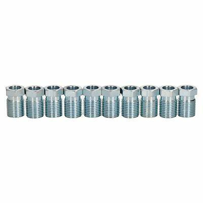 "Steel Male Brake Pipe Union Fittings 1/2"" x 20 UNF for 5/16"" Brake Pipe 10pc"